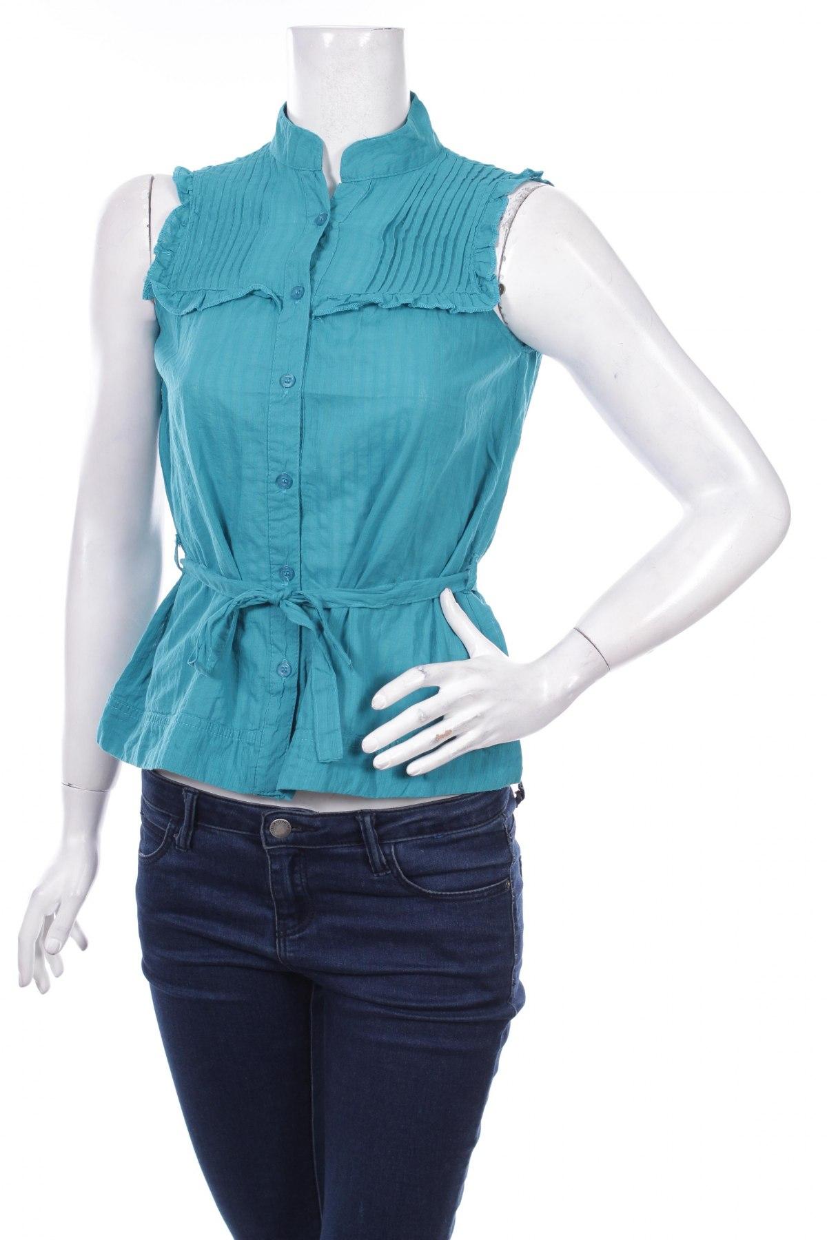 Γυναικείο πουκάμισο, Μέγεθος XS, Χρώμα Πράσινο, 100% βαμβάκι, Τιμή 16,49€