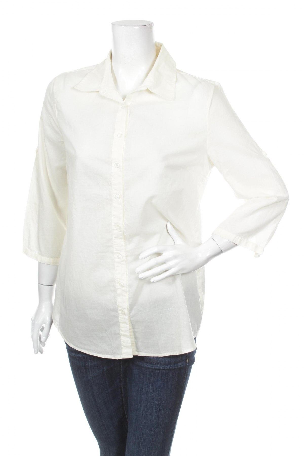 Γυναικείο πουκάμισο 21, Μέγεθος L, Χρώμα Εκρού, 100% βαμβάκι, Τιμή 16,08€