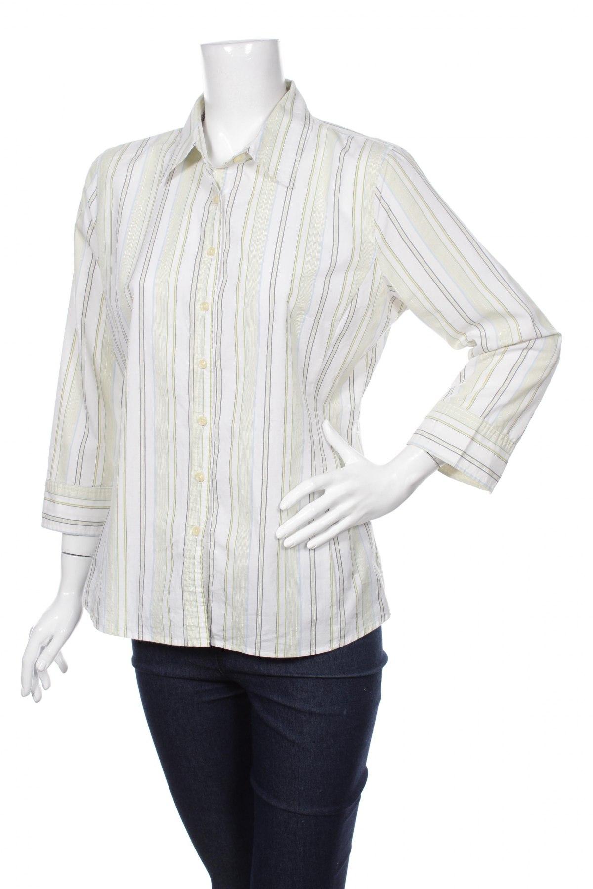 Γυναικείο πουκάμισο Merona, Μέγεθος L, Χρώμα Λευκό, 68% βαμβάκι, 28% πολυεστέρας, 3% ελαστάνη, 1% άλλα νήματα, Τιμή 16,70€