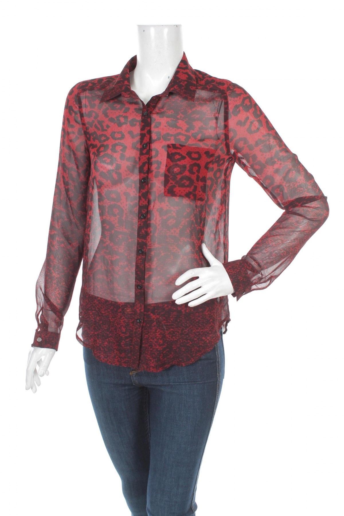 Γυναικείο πουκάμισο Zebra, Μέγεθος S, Χρώμα Κόκκινο, 100% πολυεστέρας, Τιμή 15,15€