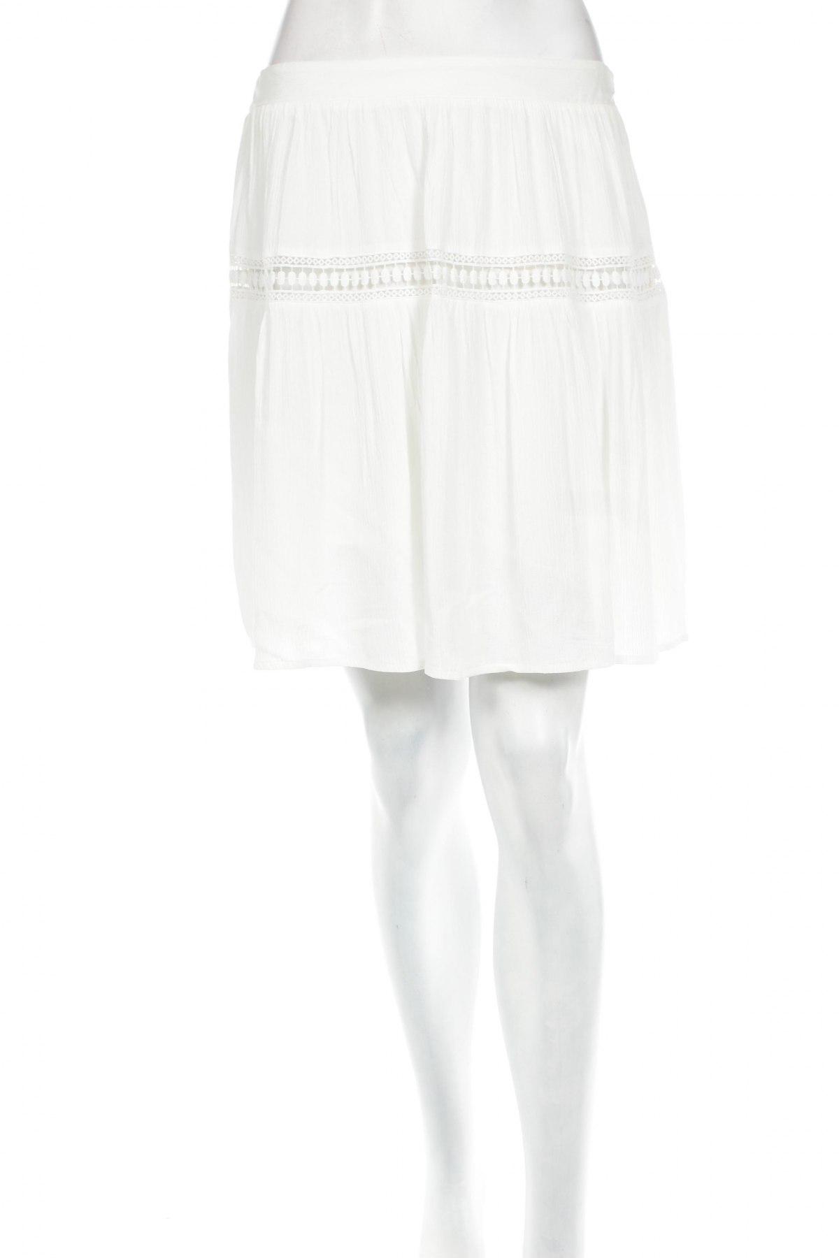 Пола Promod, Размер M, Цвят Бял, Вискоза, Цена 6,90лв.