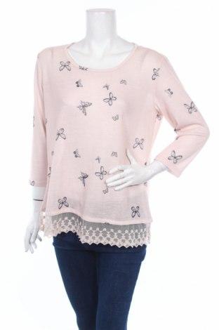 Дамска блуза Colours Of The World, Размер L, Цвят Розов, 97% полиестер, 3% еластан, Цена 20,00лв.
