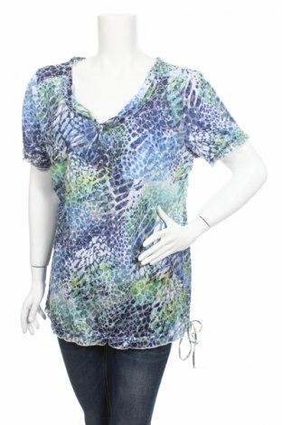 Дамска блуза Gina G, Размер XL, Цвят Многоцветен, 70% полиестер, 30% памук, Цена 4,50лв.