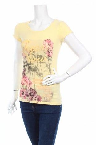 Дамска тениска Buffalo, Размер S, Цвят Жълт, 92% памук, 8% еластан, Цена 9,50лв.