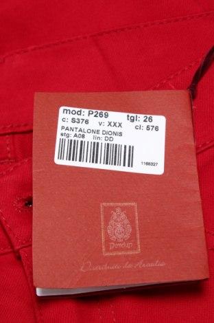 Дамски панталон Dondup, Размер M, Цвят Червен, 56% ацетат, 44% вискоза, Цена 151,45лв.