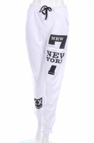 Дамско спортно долнище Ge Shan Pin Yue, Размер L, Цвят Бял, Цена 18,00лв.