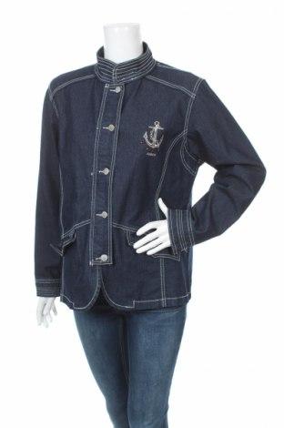 Дамско яке Gina Laura, Размер L, Цвят Син, 78% памук, 20% полиестер, 2% еластан, Цена 28,00лв.