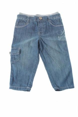 Детски дънки Ikks, Размер 9-12m/ 74-80 см, Цвят Син, 100% памук, Цена 13,68лв.