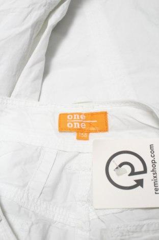 Детски панталон One By One, Размер 11-12y/ 152-158 см, Цвят Бял, Памук, Цена 21,00лв.