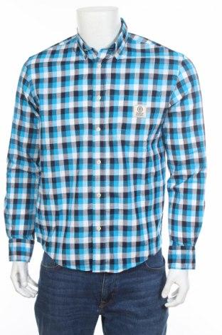 Мъжка риза Franklin & Marshall, Размер S, Цвят Многоцветен, 55% лен, 45% памук, Цена 55,90лв.
