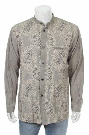 Мъжка риза Pronti, Размер L, Цвят Бежов, 65% полиестер, 35% вискоза, Цена 19,00лв.