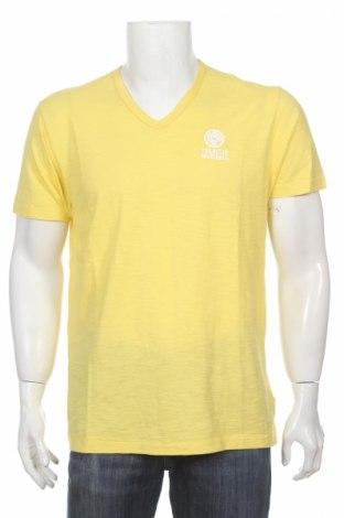 Мъжка тениска Franklin & Marshall, Размер XL, Цвят Жълт, Памук, Цена 45,50лв.