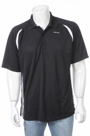 Мъжка тениска Head, Размер XXL, Цвят Черен, 99% полиестер, 1% еластан, Цена 12,65лв.