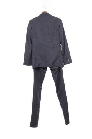Мъжки костюм Gutteridge, Размер S, Цвят Син, 88% вълна, 10% памук, 2% коприна, Цена 188,50лв.