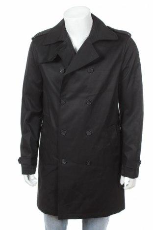 Мъжки шлифер Sisley, Размер L, Цвят Черен, 65% памук, 35% полиамид, Цена 127,40лв.