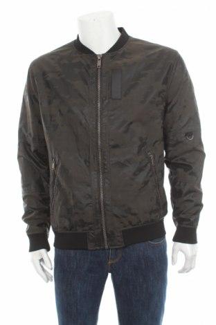 Мъжко кожено яке Zara Man, Размер XL, Цвят Многоцветен, Еко кожа, Цена 72,82лв.