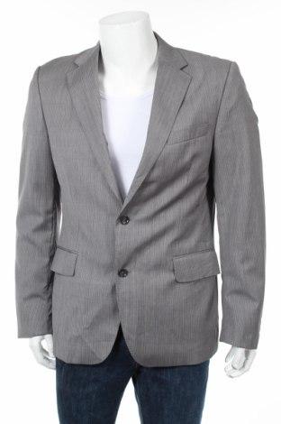 Мъжко сако Bruuns Bazaar, Размер L, Цвят Сив, Вълна, Цена 98,80лв.