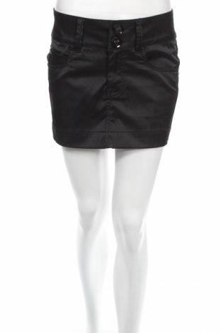 Φούστα Gina Tricot, Μέγεθος S, Χρώμα Μαύρο, 55% πολυεστέρας, 42% βαμβάκι, 3% ελαστάνη, Τιμή 4,86€
