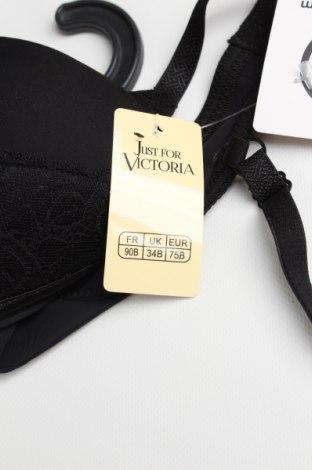 Сутиен Just For Victoria, Размер S, Цвят Черен, 85% полиамид, 15% еластан, Цена 29,90лв.