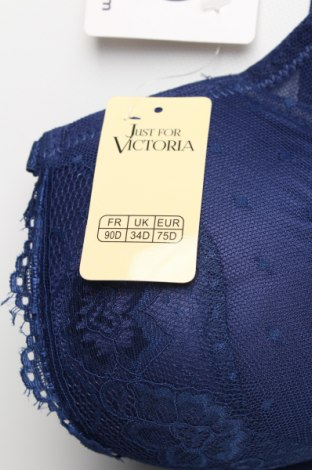 Сутиен Just For Victoria, Размер L, Цвят Син, 85% полиамид, 15% еластан, Цена 27,95лв.