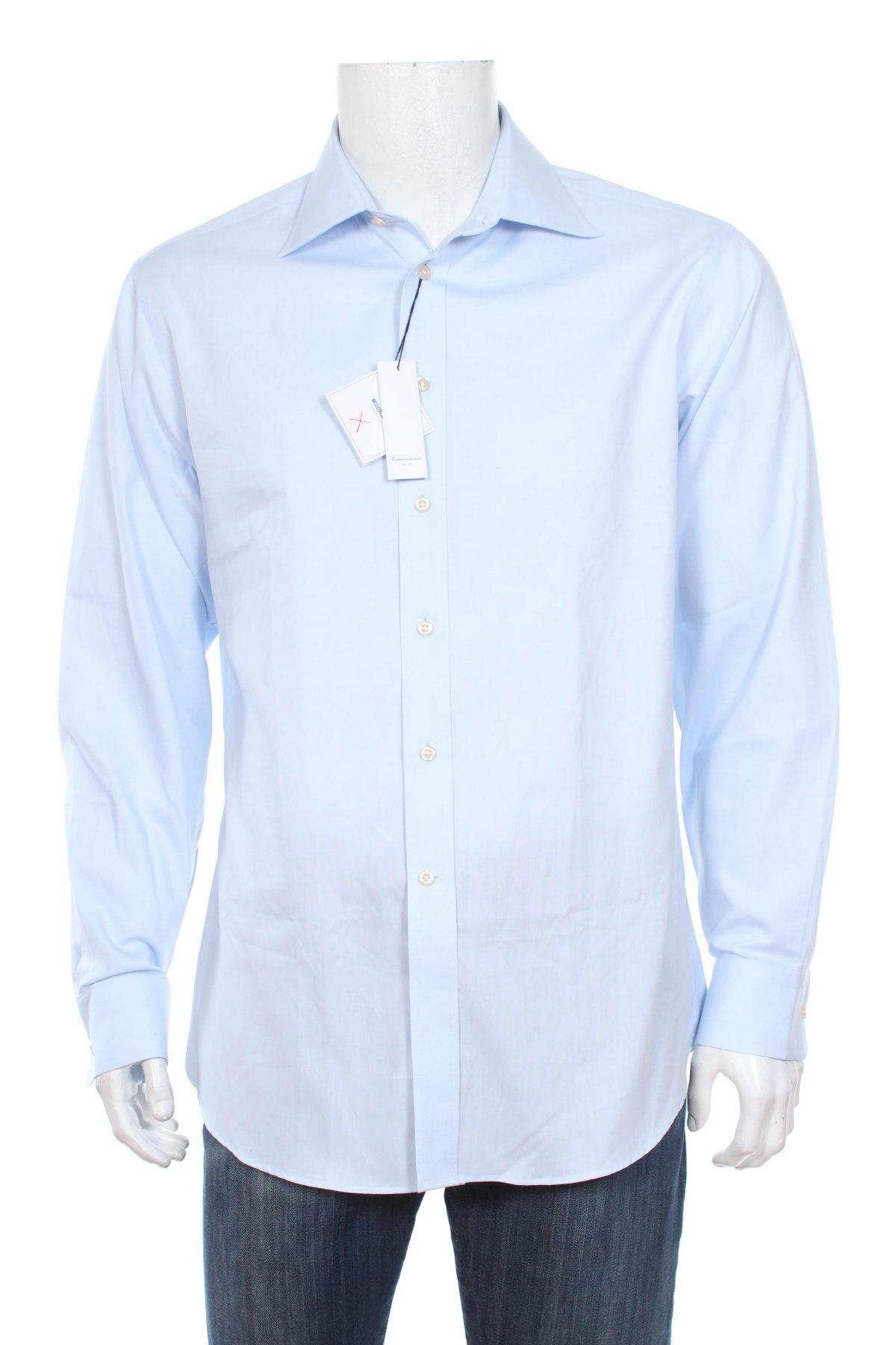 Мъжка риза Camicissima, Размер M, Цвят Син, 100% памук, Цена 41,60лв.