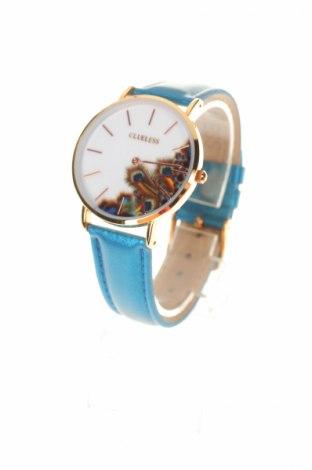 Zegarek CLUELESS, Kolor Niebieski, Eko skóra, metal, Cena 117,73zł