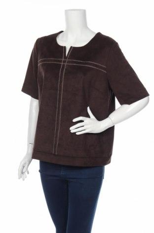 Дамска блуза Accent, Размер L, Цвят Кафяв, 90% полиестер, 10% еластан, Цена 4,00лв.
