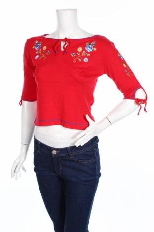 Дамска блуза Derek Heart, Размер M, Цвят Червен, 100% памук, Цена 8,40лв.