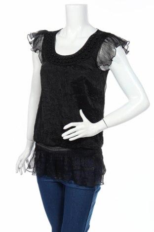 Дамска блуза Jennifer Taylor, Размер M, Цвят Черен, Полиестер, Цена 4,73лв.