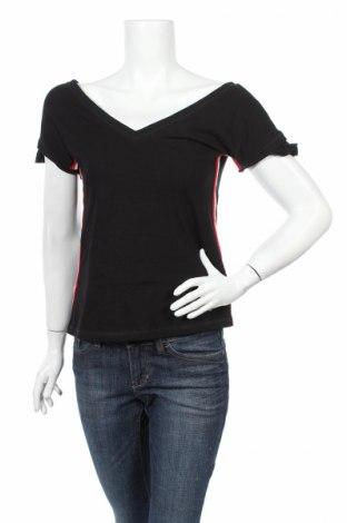 Дамска блуза Liu Jo, Размер S, Цвят Черен, 95% памук, 5% еластан, Цена 27,59лв.