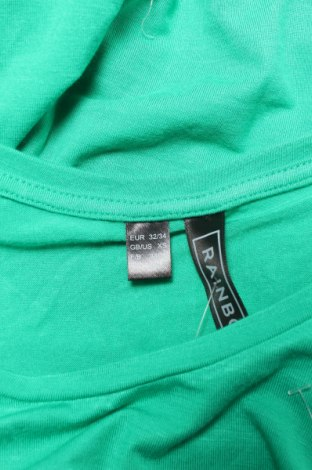 Γυναικεία μπλούζα Rainbow, Μέγεθος XXS, Χρώμα Πράσινο, 95% βισκόζη, 5% ελαστάνη, Τιμή 10,82€