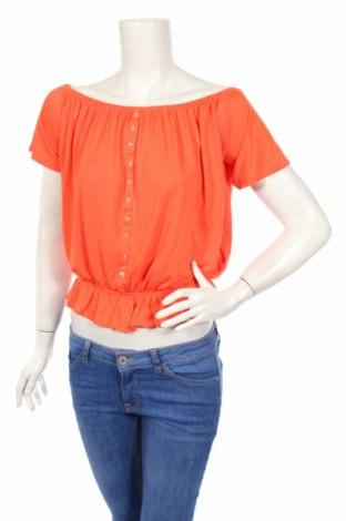 Дамска блуза Sinsay, Размер M, Цвят Оранжев, 50% полиестер, 50% вискоза, Цена 4,56лв.