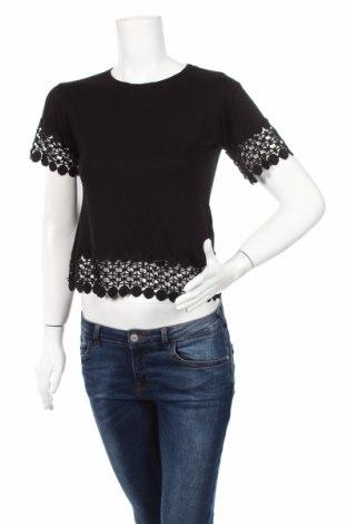 Дамска блуза Topshop, Размер XS, Цвят Черен, 55% модал, 45% памук, Цена 13,39лв.