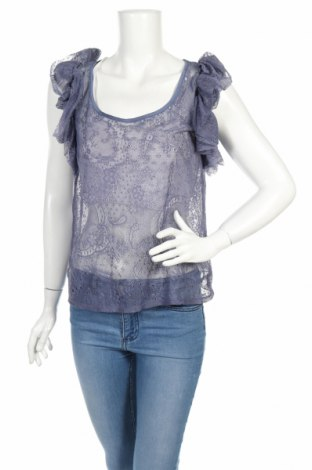 Дамска блуза Topshop, Размер XS, Цвят Син, Полиамид, Цена 11,60лв.