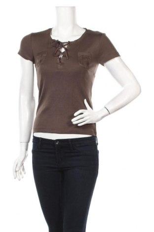 Дамска блуза U Collection, Размер M, Цвят Зелен, 50% памук, 50% модал, Цена 3,09лв.