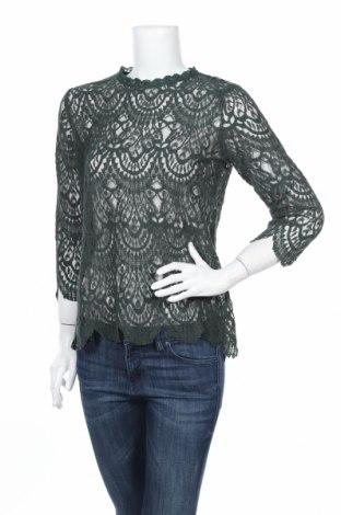 Dámska blúza Zara, Veľkosť L, Farba Zelená, 75% bavlna, 25% polyamide, Cena  20,10€