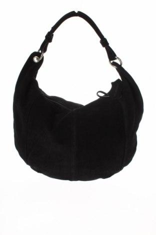 Γυναικεία τσάντα Bpc Bonprix Collection, Χρώμα Μαύρο, Φυσικό σουέτ, Τιμή 34,64€