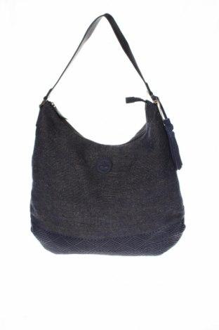 Дамска чанта Timberland, Цвят Син, Текстил, естествена кожа, естествен велур, Цена 65,70лв.