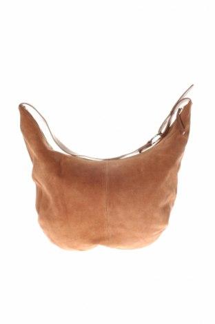 Γυναικεία τσάντα Zign, Χρώμα Καφέ, Φυσικό σουέτ, Τιμή 35,36€