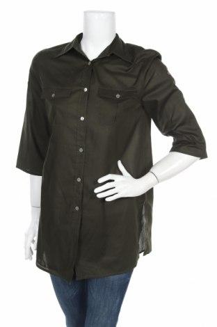 Γυναικείο πουκάμισο Apriori, Μέγεθος S, Χρώμα Πράσινο, Βαμβάκι, Τιμή 2,97€
