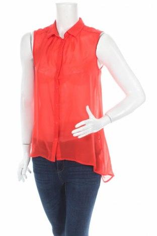 Дамска риза H&M, Размер S, Цвят Червен, Полиестер, Цена 4,73лв.