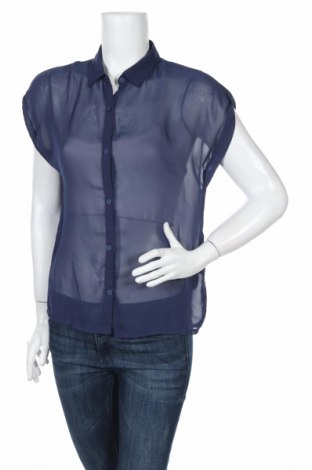 Дамска риза H&M Divided, Размер M, Цвят Син, Полиестер, Цена 4,20лв.
