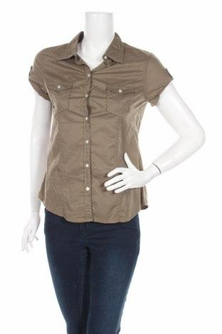 Дамска риза H&M L.o.g.g, Размер M, Цвят Зелен, Памук, Цена 4,20лв.