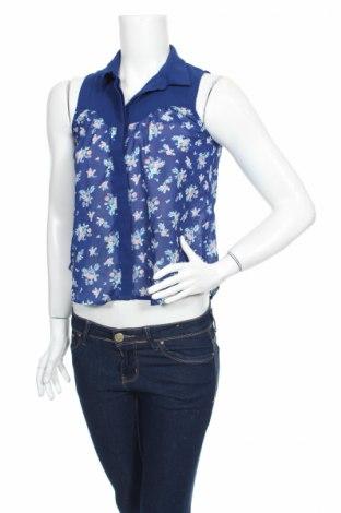 Дамска риза Jennyfer, Размер XS, Цвят Син, Цена 3,68лв.