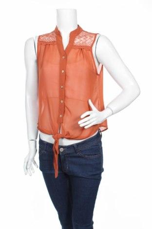 Γυναικείο πουκάμισο Mine, Μέγεθος L, Χρώμα Πορτοκαλί, Τιμή 3,21€
