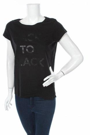 Дамска тениска Lc Waikiki, Размер M, Цвят Черен, Цена 11,76лв.