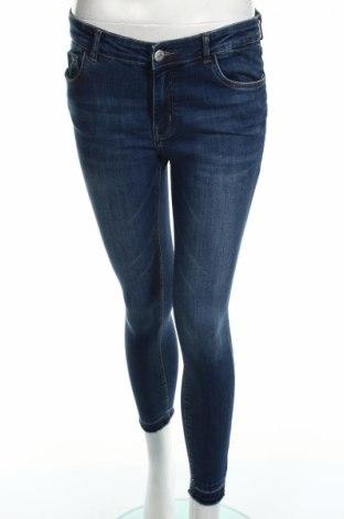 Blugi de femei Review, Mărime L, Culoare Albastru, 65% bumbac, 20% viscoză, 13% poliester, 2% elastan, Preț 97,68 Lei