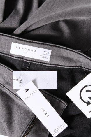 Дамски дънки Topshop, Размер M, Цвят Сив, 73% памук, 24% полиестер, 3% еластан, Цена 43,47лв.