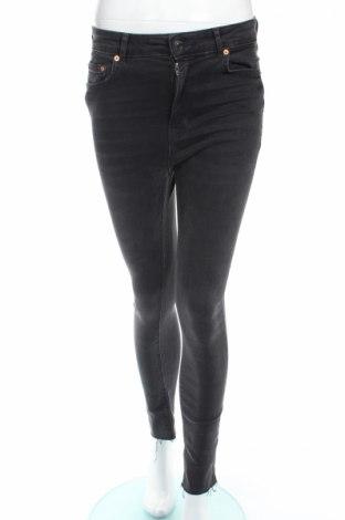 Blugi de femei Zara, Mărime M, Culoare Gri, 88% bumbac, 9% poliester, 3% elastan, Preț 67,37 Lei