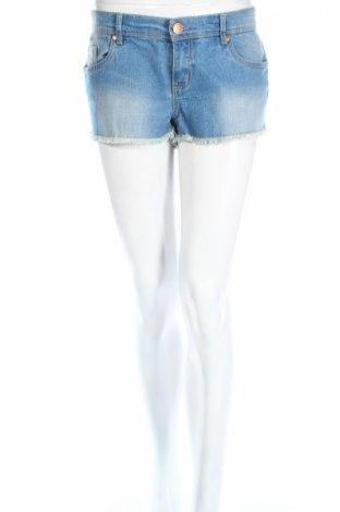 Дамски къс панталон Denim Co, Размер L, Цвят Син, 82% памук, 17% полиестер, 1% еластан, Цена 17,33лв.